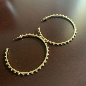 Stella and Dot Large hoop earrings